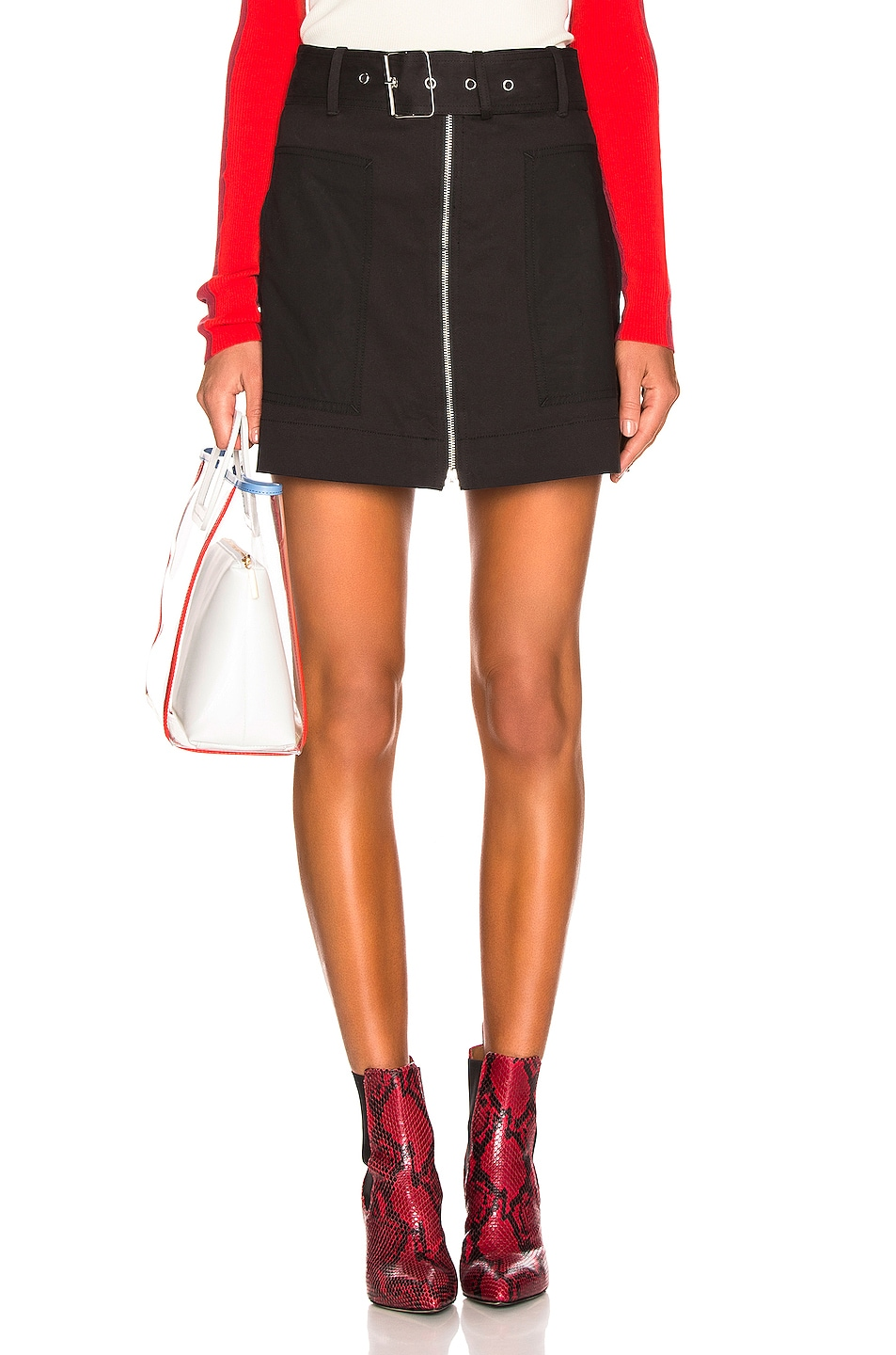 Image 1 of Proenza Schouler PSWL Belted Utility Skirt in Black