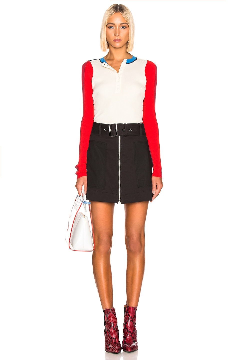 Image 4 of Proenza Schouler PSWL Belted Utility Skirt in Black