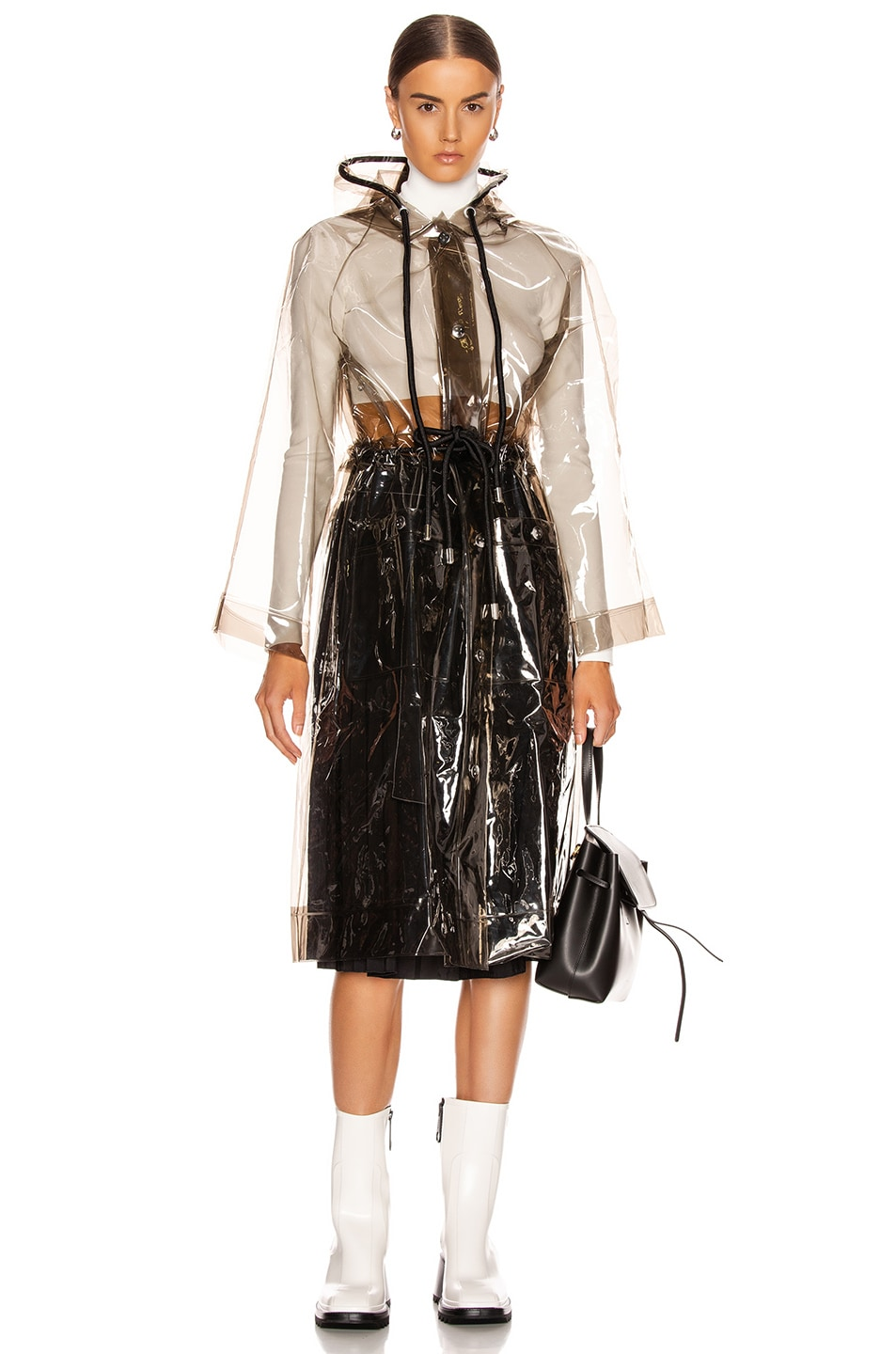 Image 4 of Proenza Schouler White Label Pleated Belt Skirt in Black