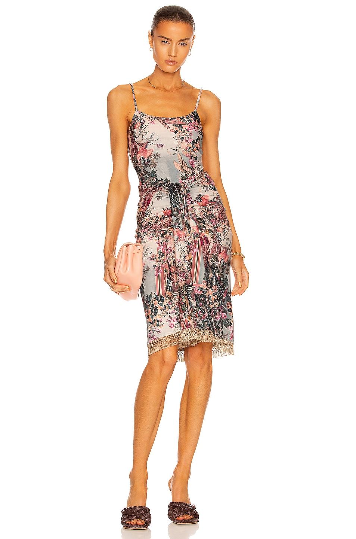 Image 1 of PatBO Lycra Fringe Dress in Paraiso Print