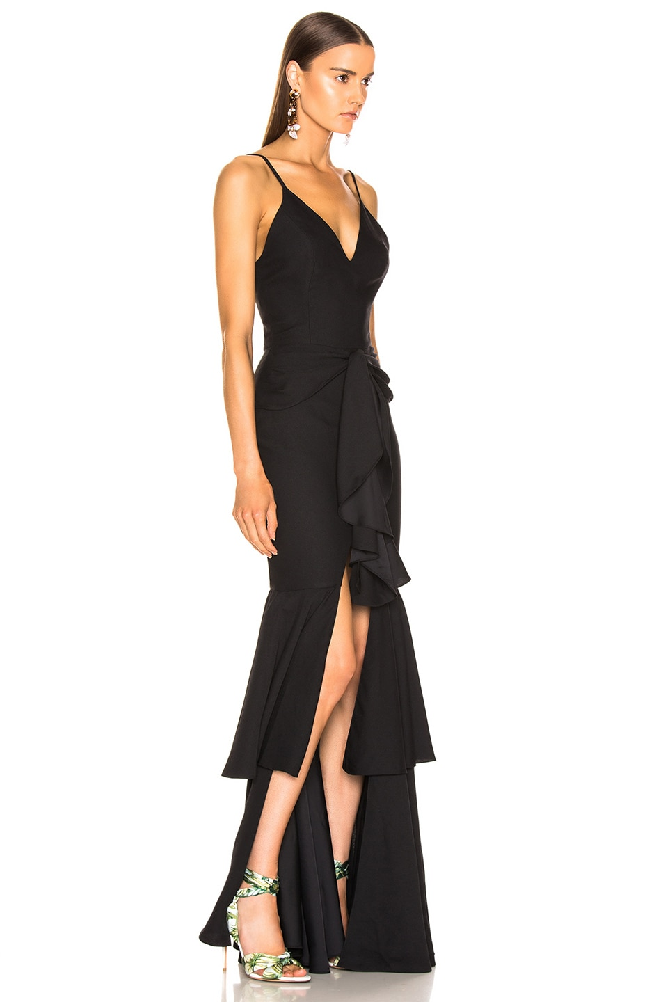 Image 2 of PatBo Bo Ruffle Maxi Dress in Black