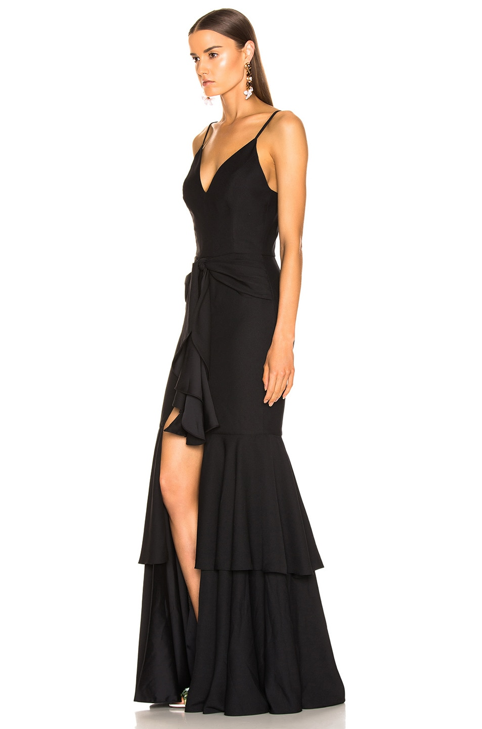Image 3 of PatBo Bo Ruffle Maxi Dress in Black