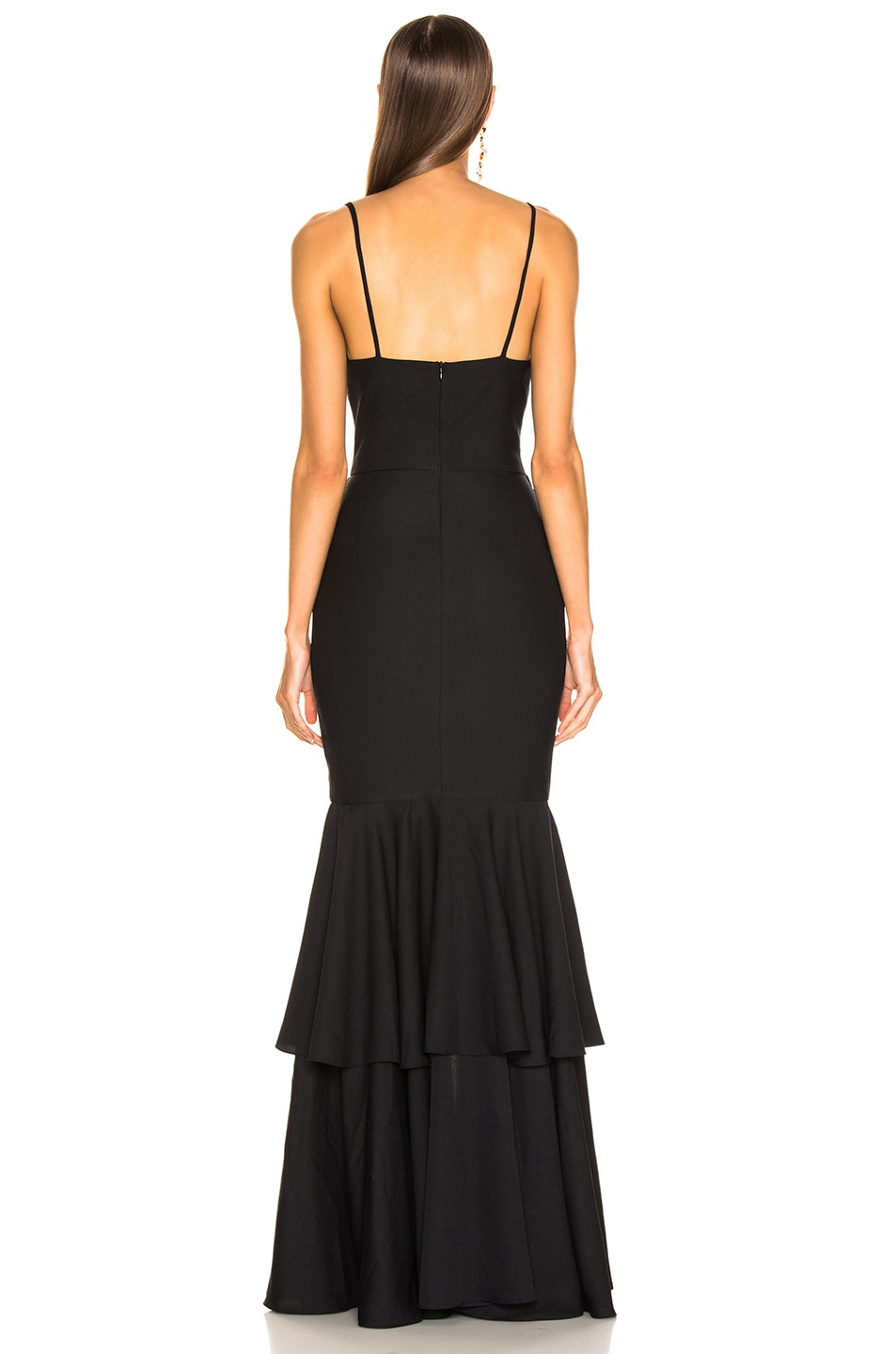 Image 4 of PatBo Bo Ruffle Maxi Dress in Black