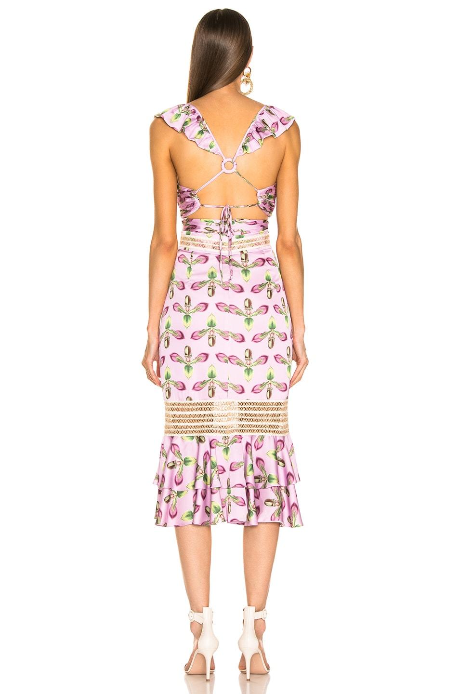 Image 3 of PatBO Jute Trim Cutout Midi Dress in Bright Lilac