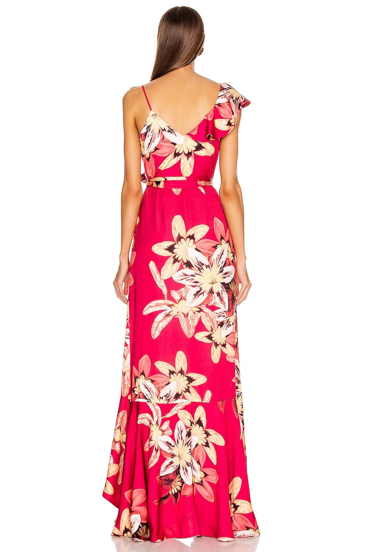 Image 4 of PatBO Floral Carmen Maxi Wrap Dress in Deep Pink