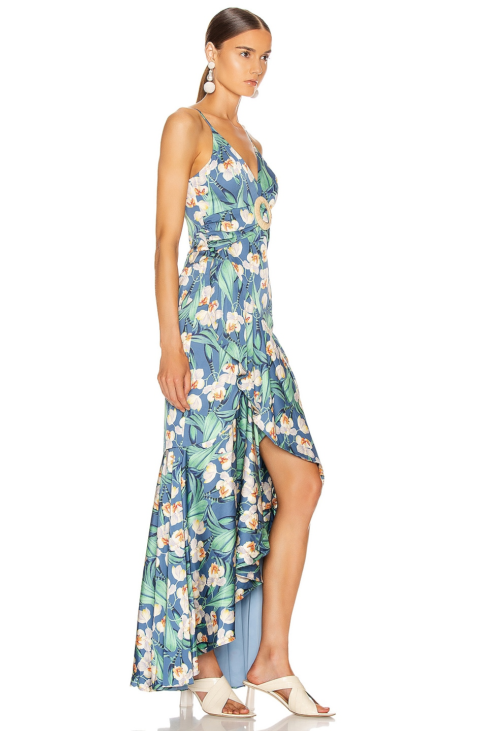 Image 2 of PatBO Floral Belted Maxi Dress in Blue