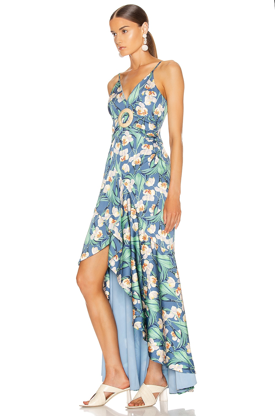 Image 3 of PatBo Floral Belted Maxi Dress in Blue
