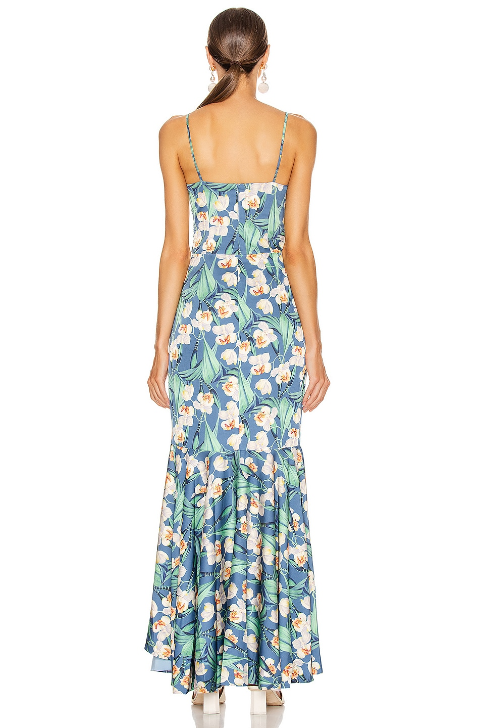 Image 4 of PatBo Floral Belted Maxi Dress in Blue