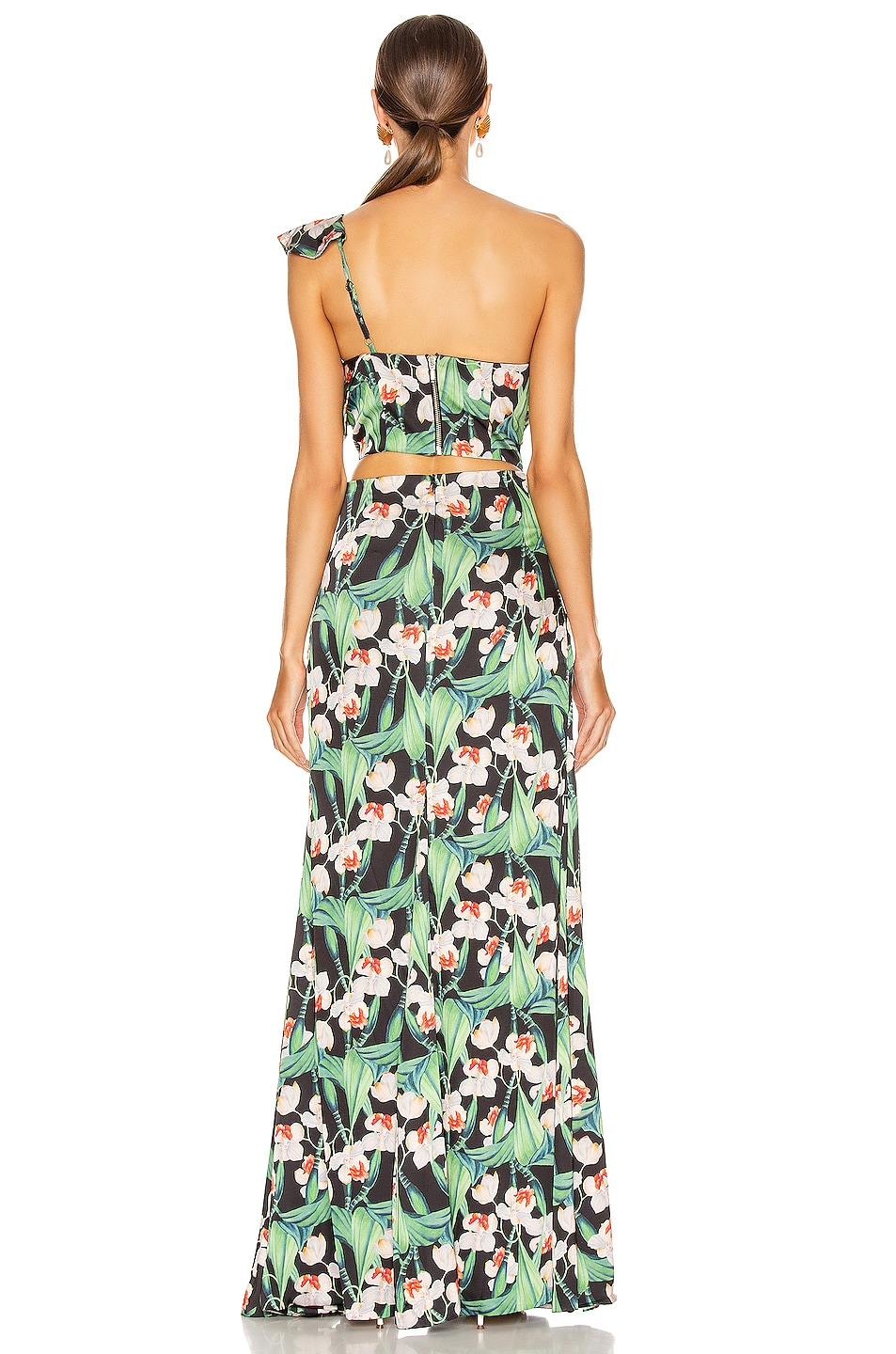 Image 4 of PatBo Floral Asymmetric Maxi Dress in Black