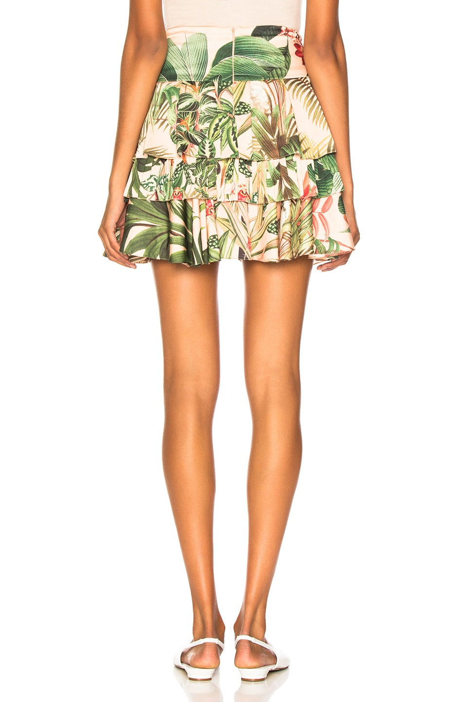 Image 3 of PatBo Paradise Print Ruffle Mini Skirt in Pink