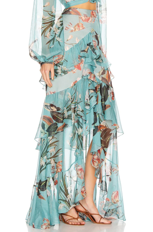 Image 2 of PatBO Carolina Hi Low Maxi Skirt in Blue