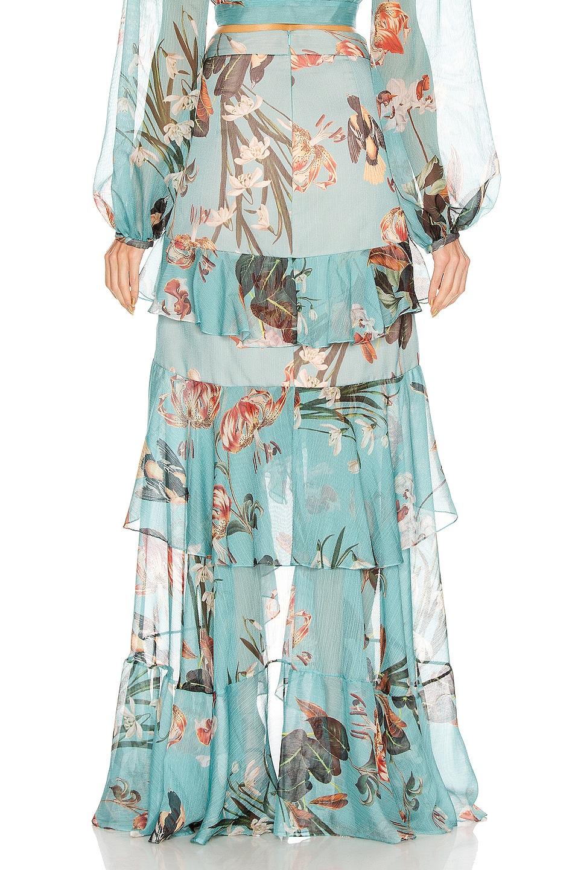 Image 3 of PatBO Carolina Hi Low Maxi Skirt in Blue