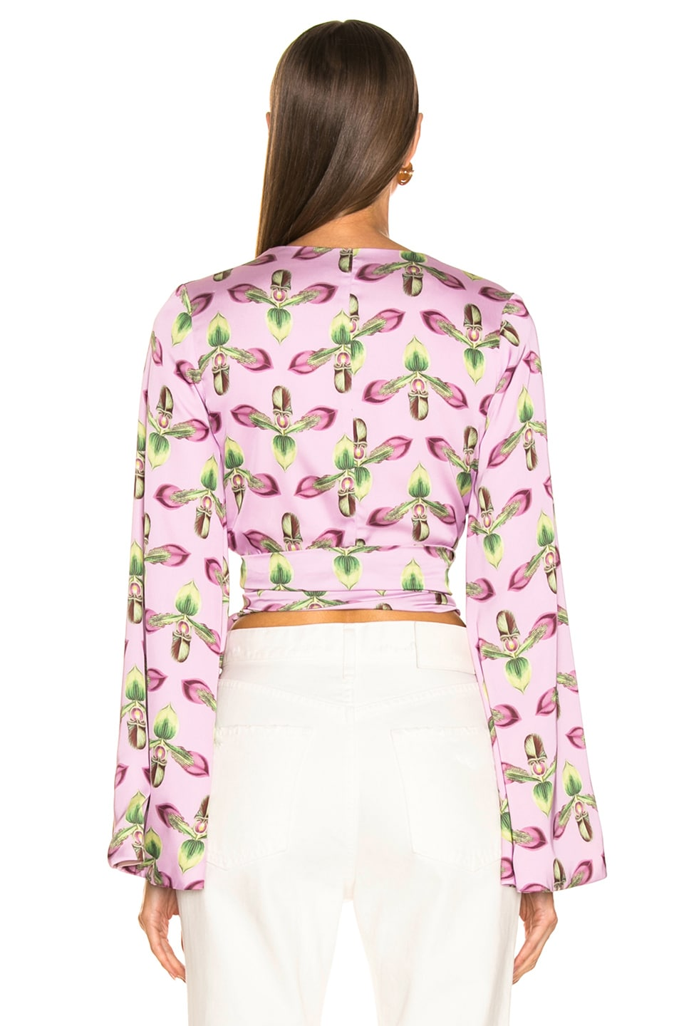 Image 4 of PatBO Kimono Sleeve Wrap Top in Bright Lilac