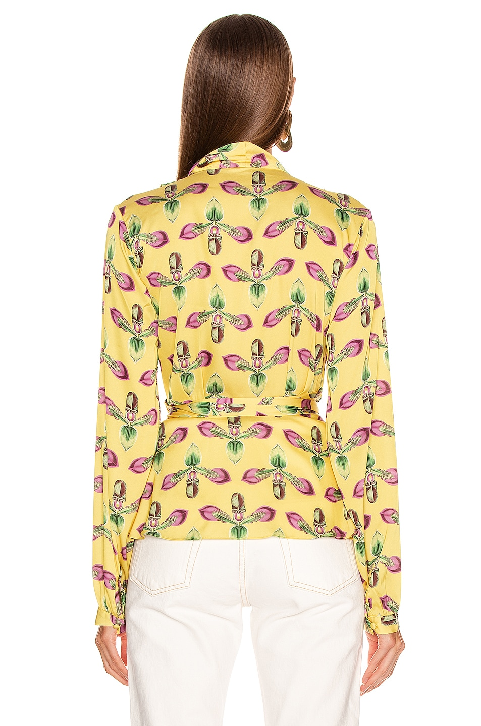 Image 4 of PatBo Floral Print Wrap Top in Bright Yellow