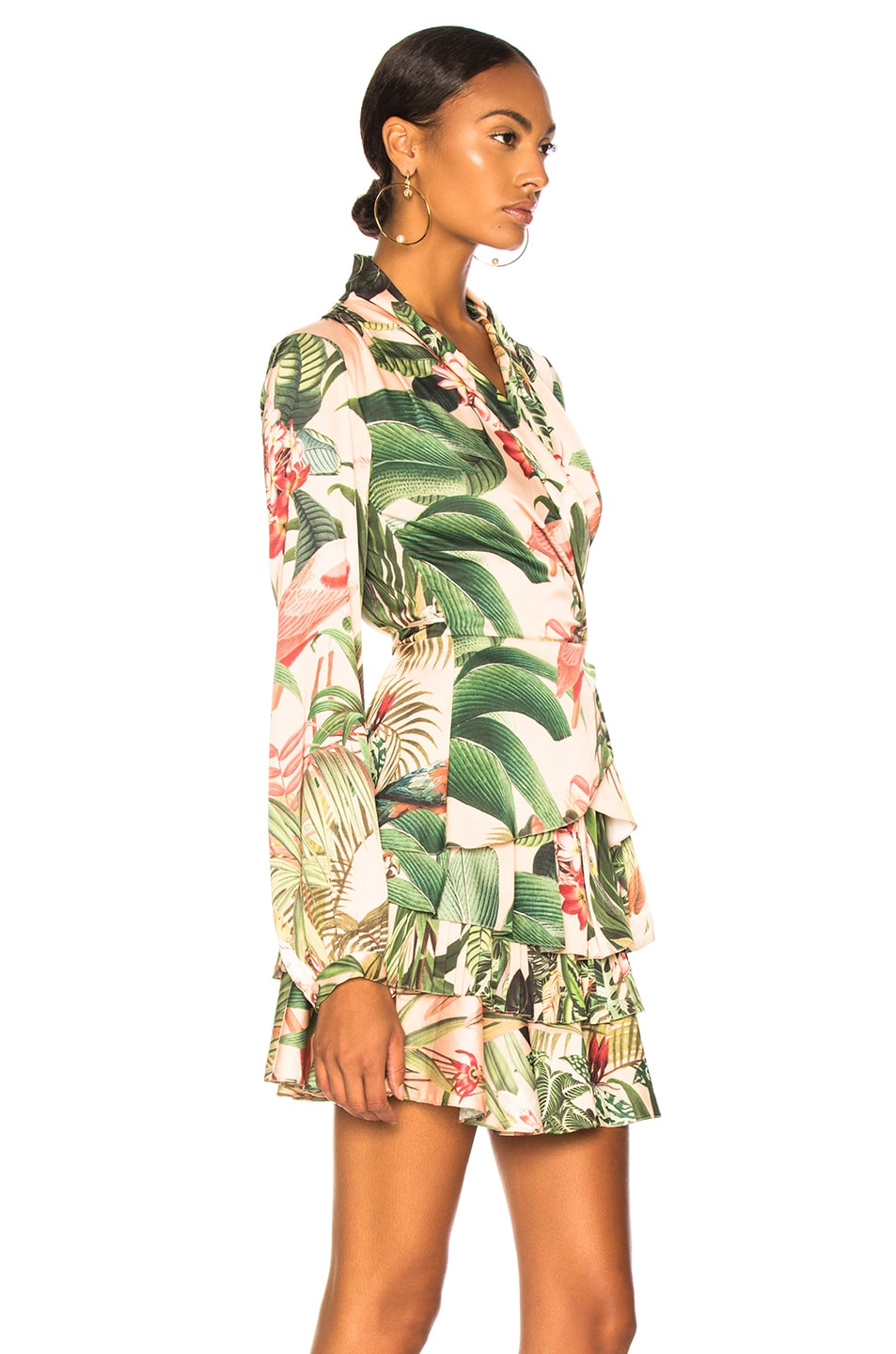 Image 3 of PatBo Paradise Print Wrap Top in Pink