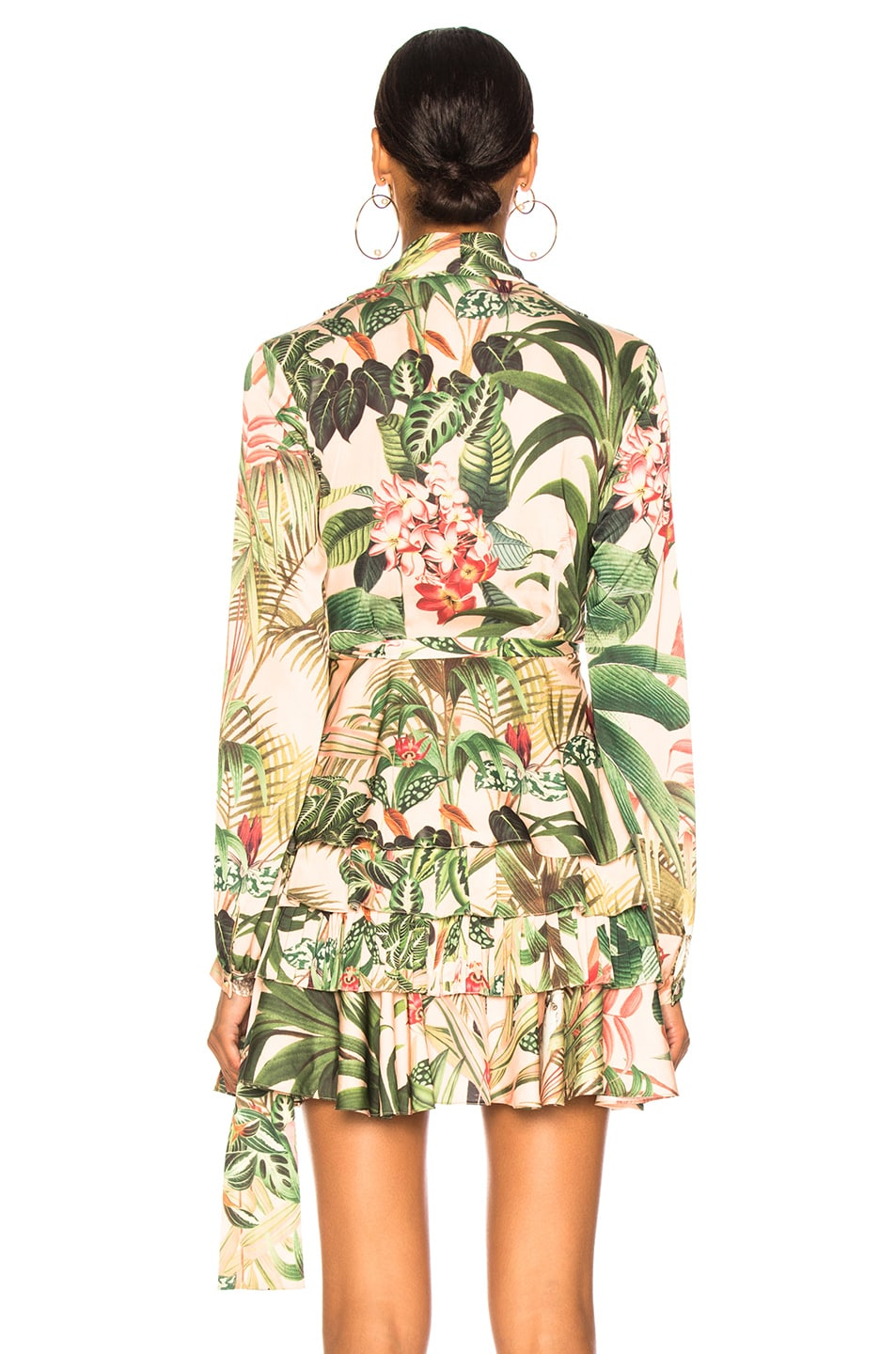 Image 5 of PatBo Paradise Print Wrap Top in Pink