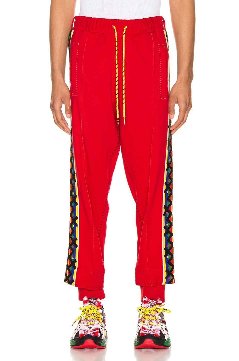Image 2 of Puma Select x Jahnkoy Pants in High Risk Red