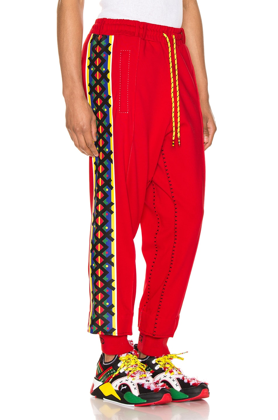 Image 3 of Puma Select x Jahnkoy Pants in High Risk Red