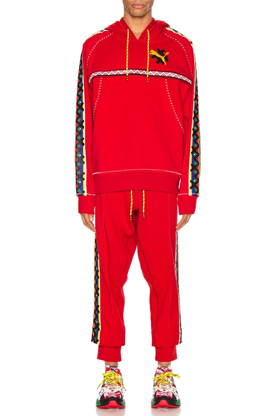 Image 6 of Puma Select x Jahnkoy Pants in High Risk Red