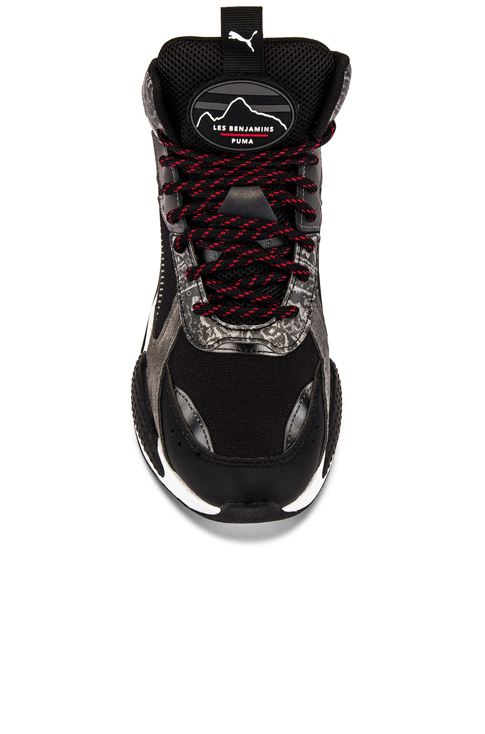 Image 4 of Puma Select x Les Benjamins RS-X Mid in Black & White