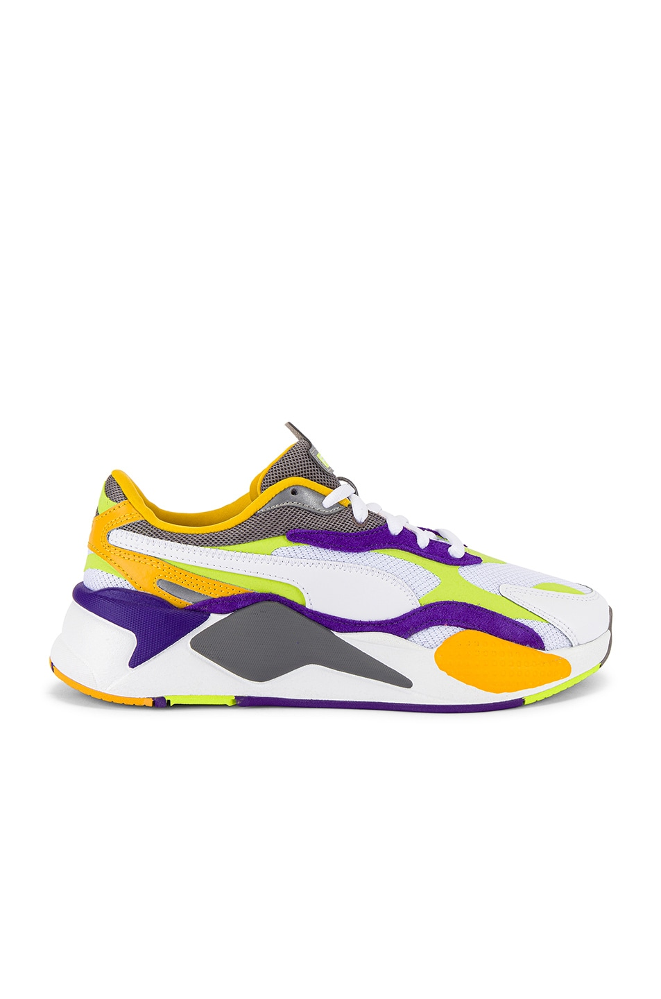 Image 2 of Puma Select RS-X3 Level Up Sneaker in Puma White & Limepunch