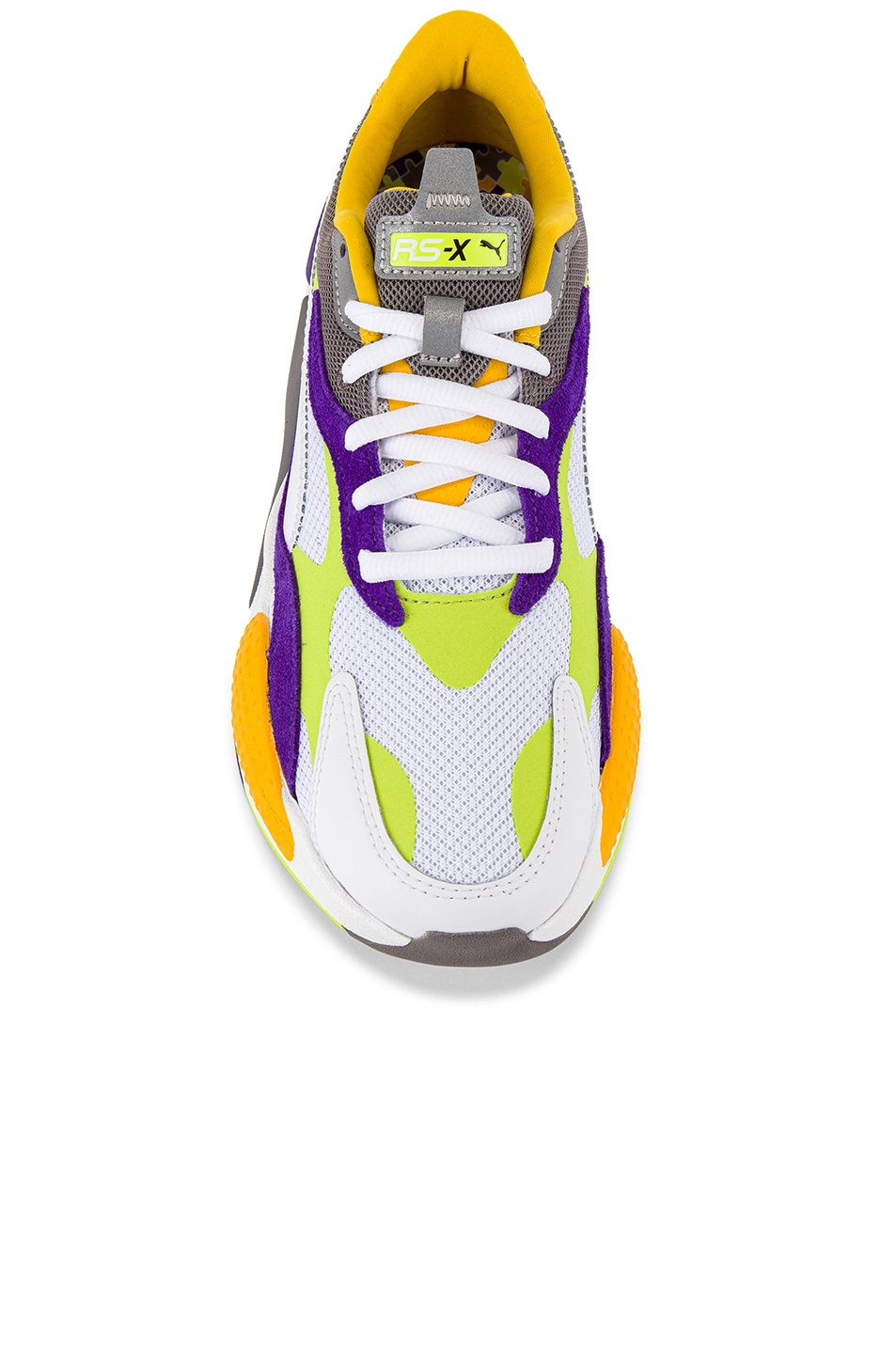 Image 4 of Puma Select RS-X3 Level Up Sneaker in Puma White & Limepunch