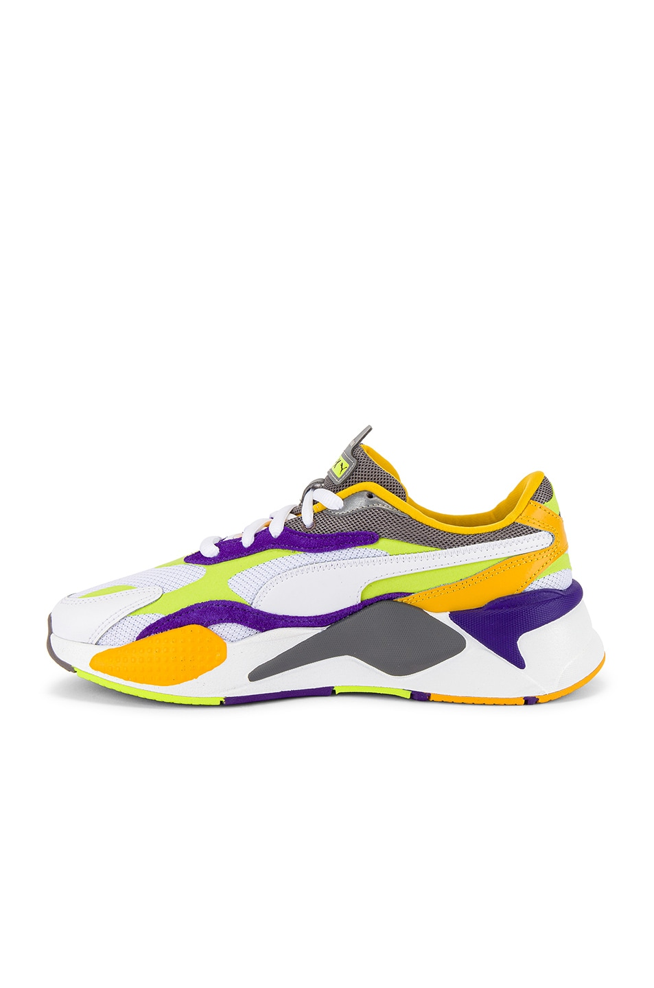 Image 5 of Puma Select RS-X3 Level Up Sneaker in Puma White & Limepunch