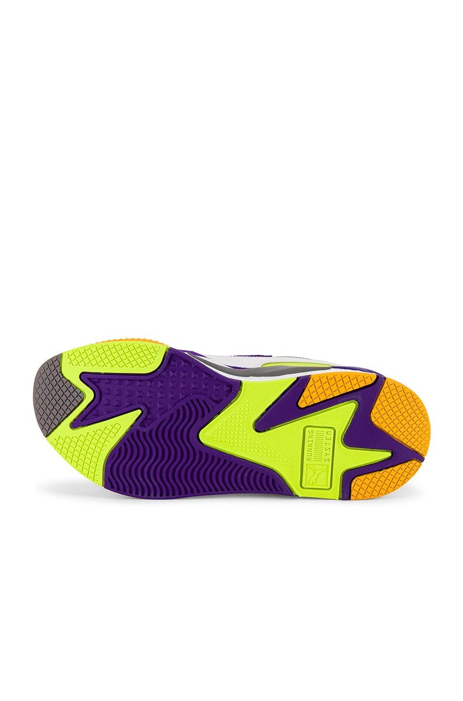 Image 6 of Puma Select RS-X3 Level Up Sneaker in Puma White & Limepunch
