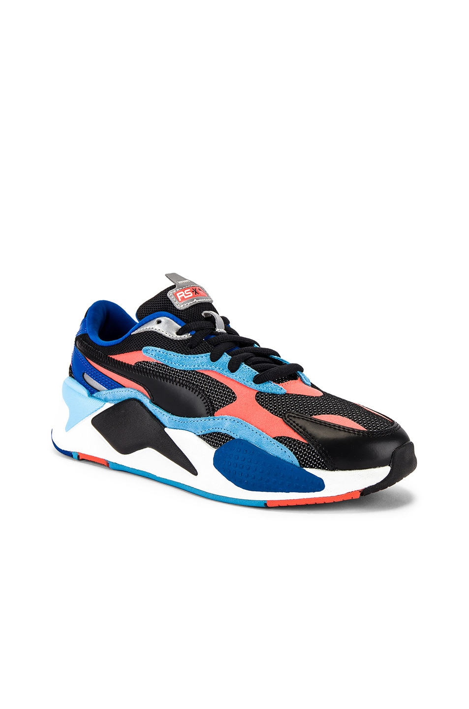 Image 1 of Puma Select RS-X3 Level Up Sneaker in Puma Black & Hot Coral