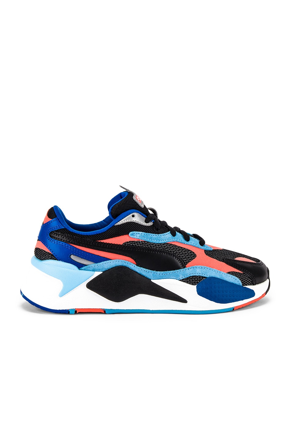 Image 2 of Puma Select RS-X3 Level Up Sneaker in Puma Black & Hot Coral