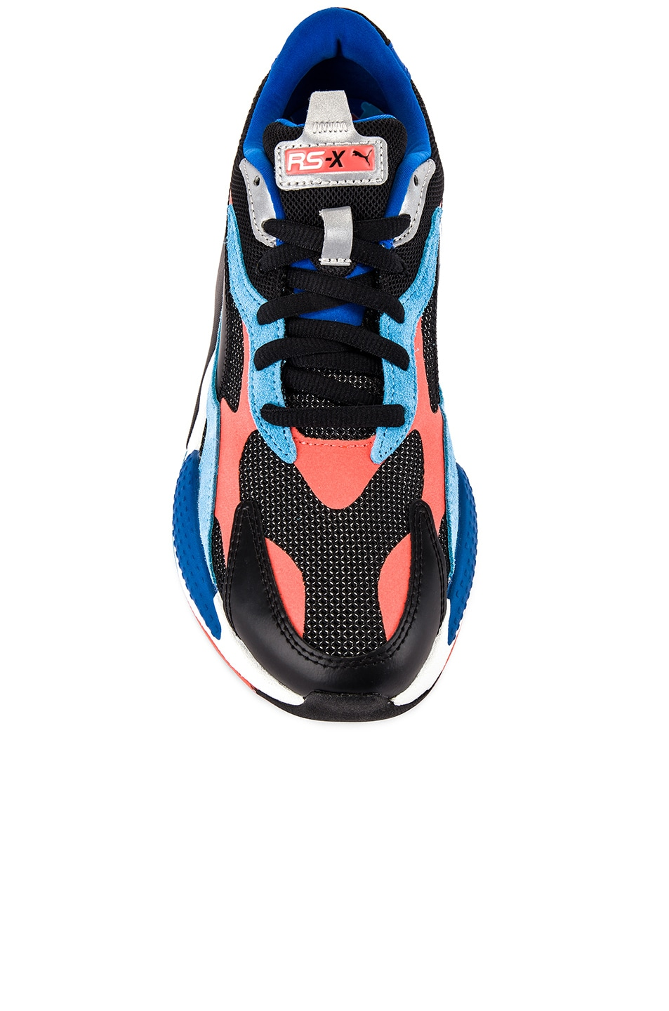 Image 4 of Puma Select RS-X3 Level Up Sneaker in Puma Black & Hot Coral
