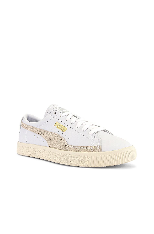 Image 1 of Puma Select Basket 90680 Lux Sneaker in Puma White & Whisper White