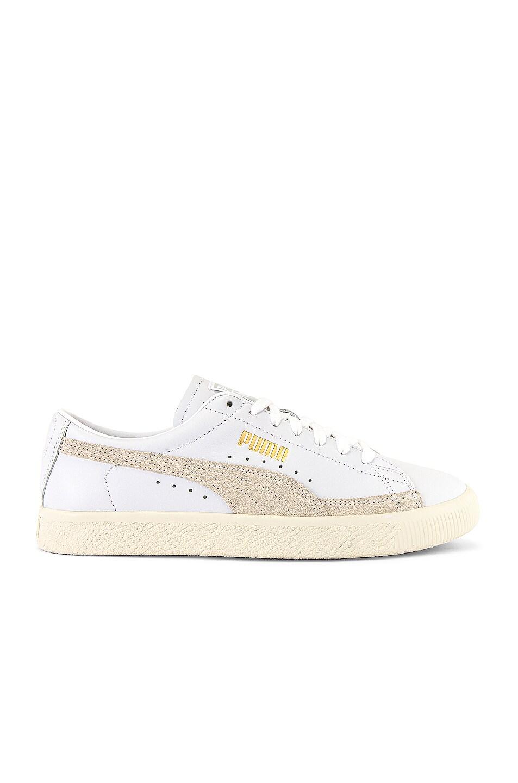 Image 2 of Puma Select Basket 90680 Lux Sneaker in Puma White & Whisper White