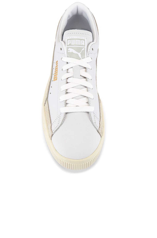 Image 4 of Puma Select Basket 90680 Lux Sneaker in Puma White & Whisper White