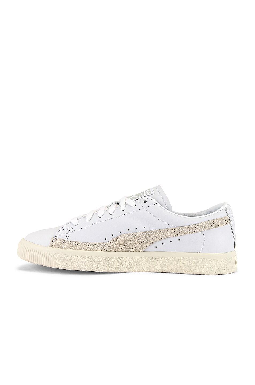 Image 5 of Puma Select Basket 90680 Lux Sneaker in Puma White & Whisper White