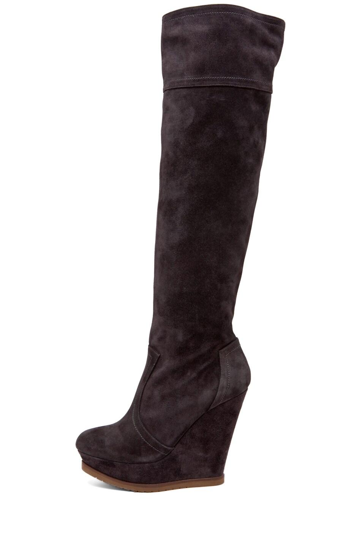 pura knee high wedge boot in crosta asfalto fwrd
