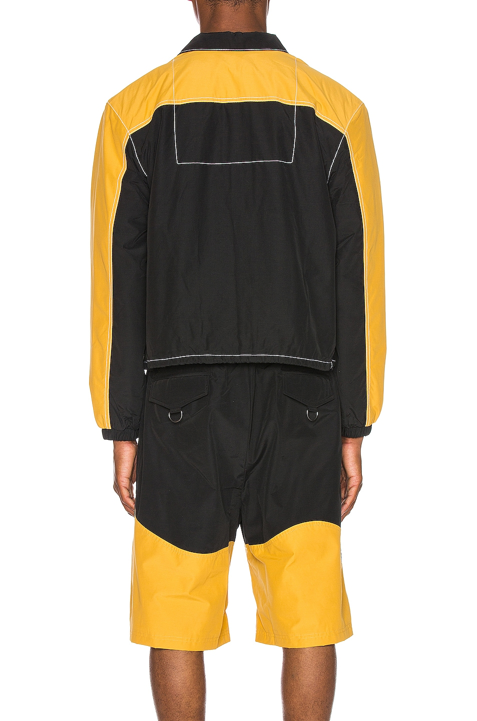 Image 5 of Pyer Moss Signature Coaches Jacket in Black & Yellow