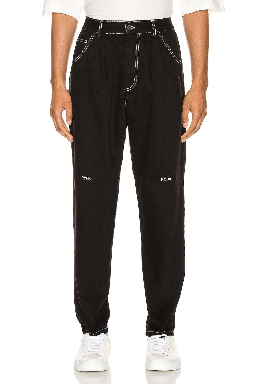 Image 1 of Pyer Moss Slim Denim Pant in Black