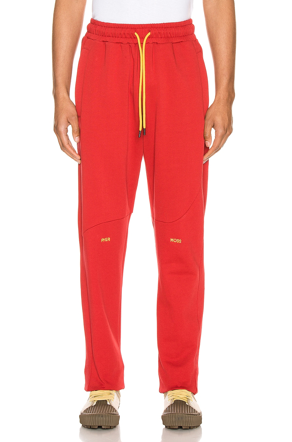 Image 1 of Pyer Moss College Slouch Pant in Red