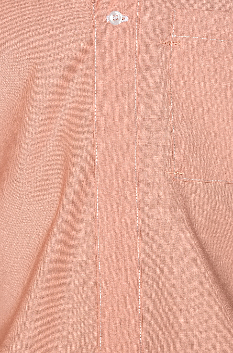 Image 6 of Pyer Moss Patched 50/50 Bowling Shirt in Black & Dusty Pink