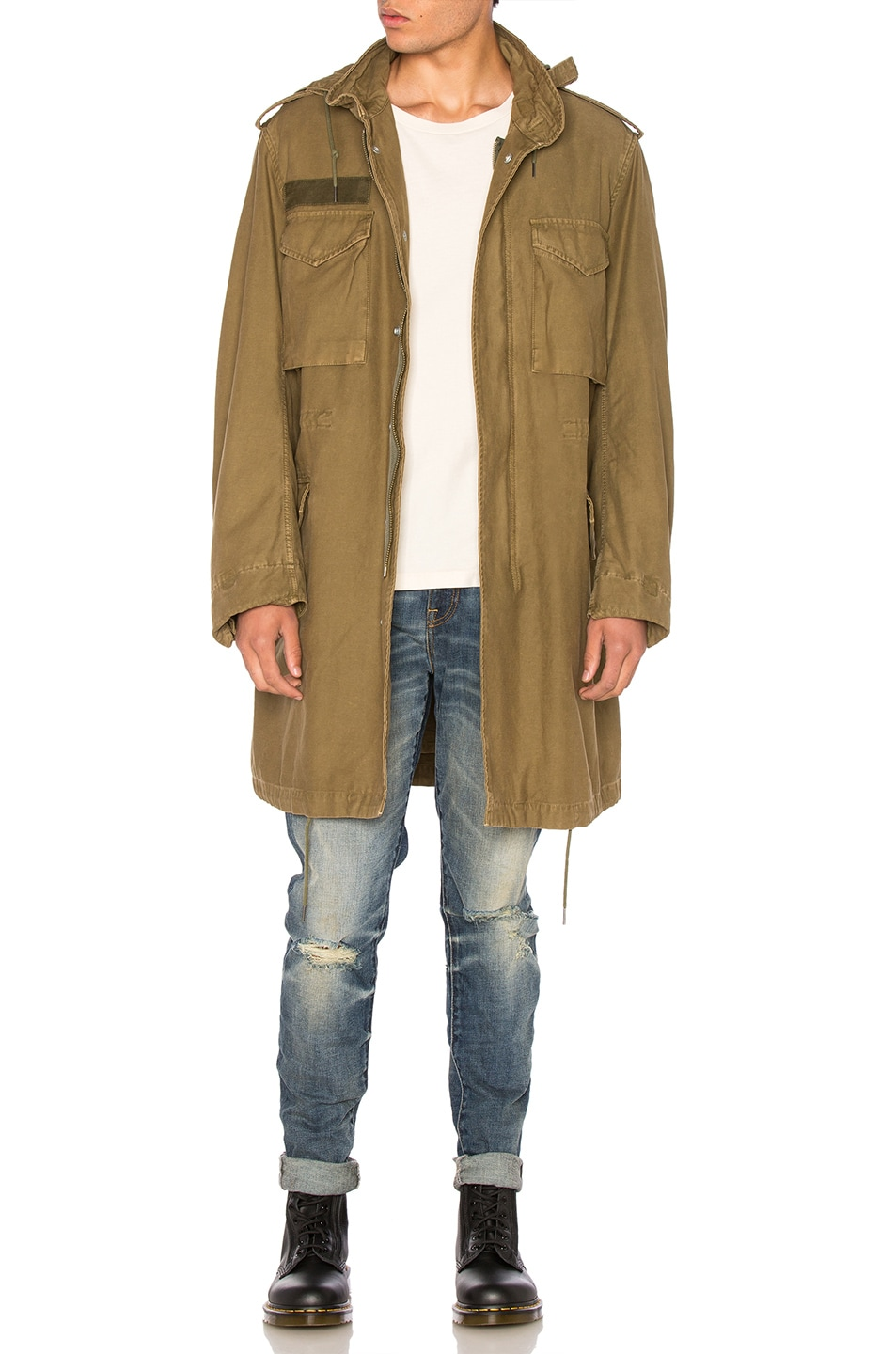 3495d671d996 Image 1 of R13 Surplus Oversized M65 Jacket in Olive
