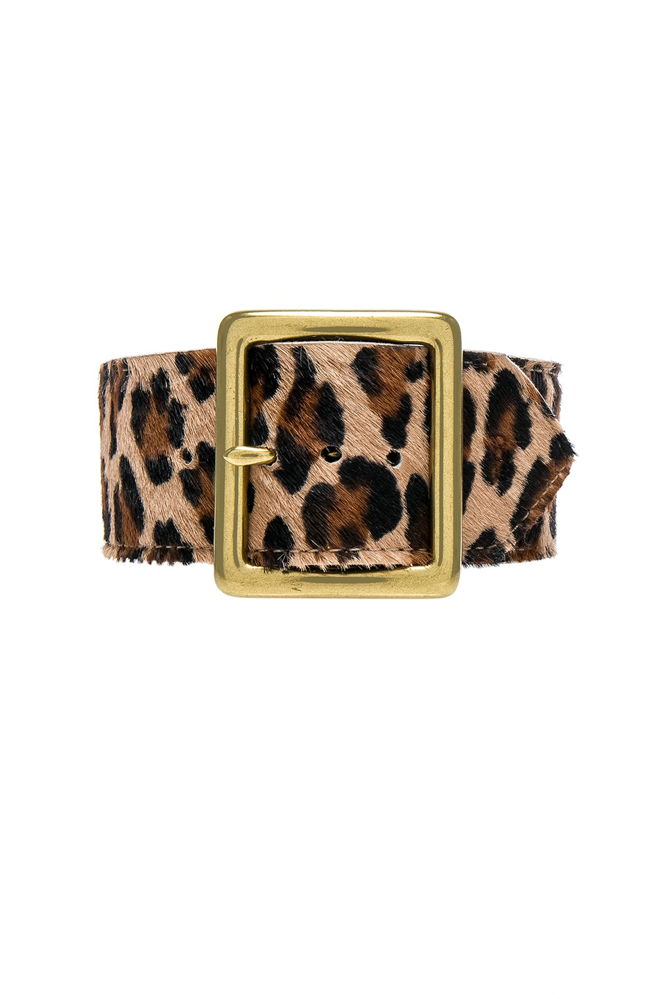 Image 1 of R13 Calf Hair Buckle Choker in Leopard