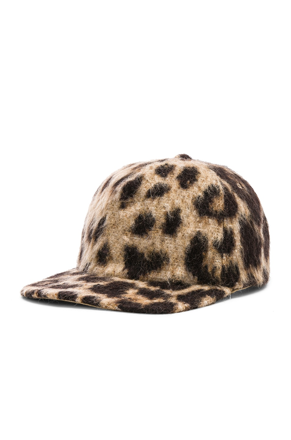 Image 2 of R13 Flat Brim Baseball Cap in Leopard