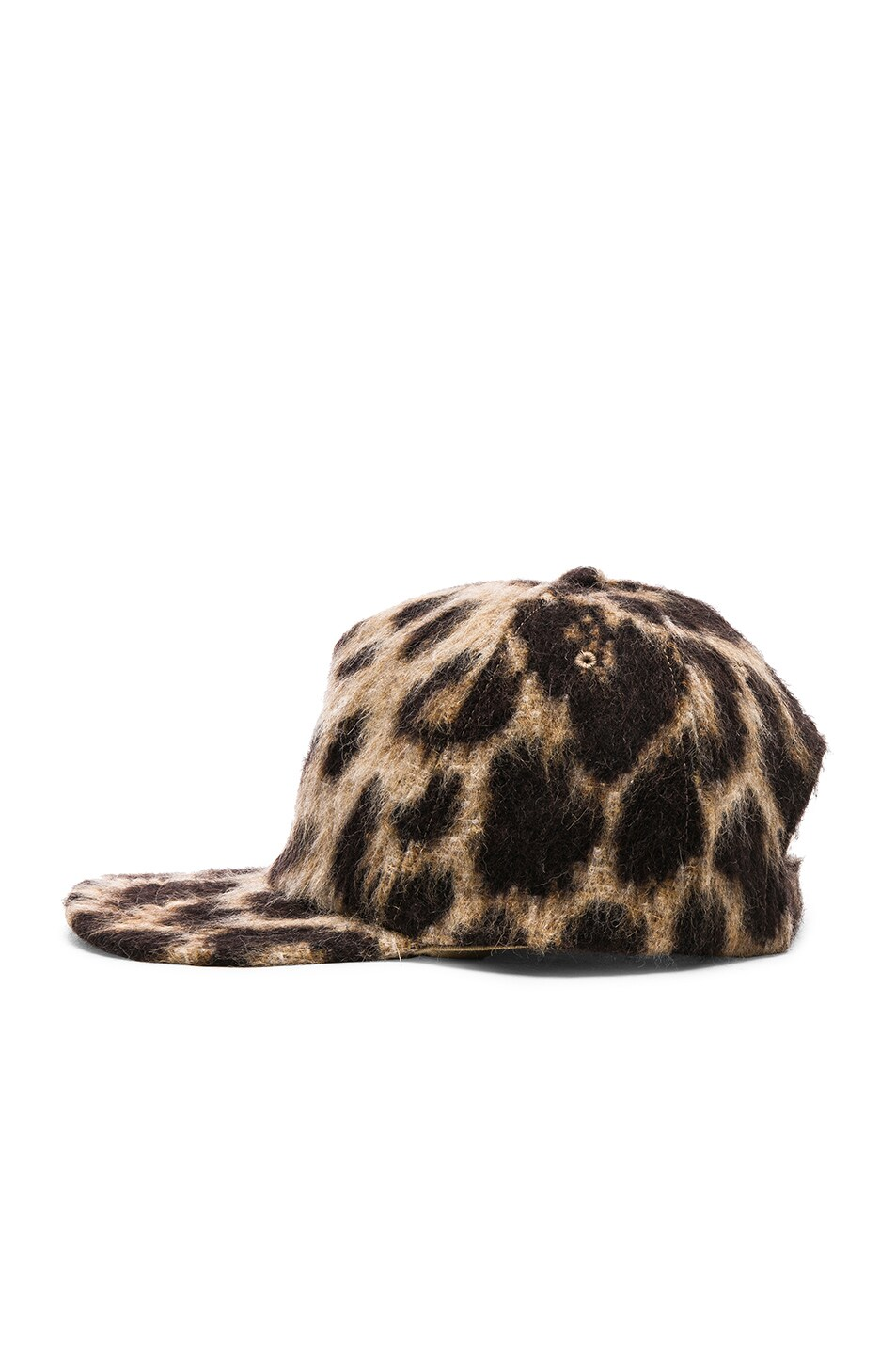 Image 3 of R13 Flat Brim Baseball Cap in Leopard
