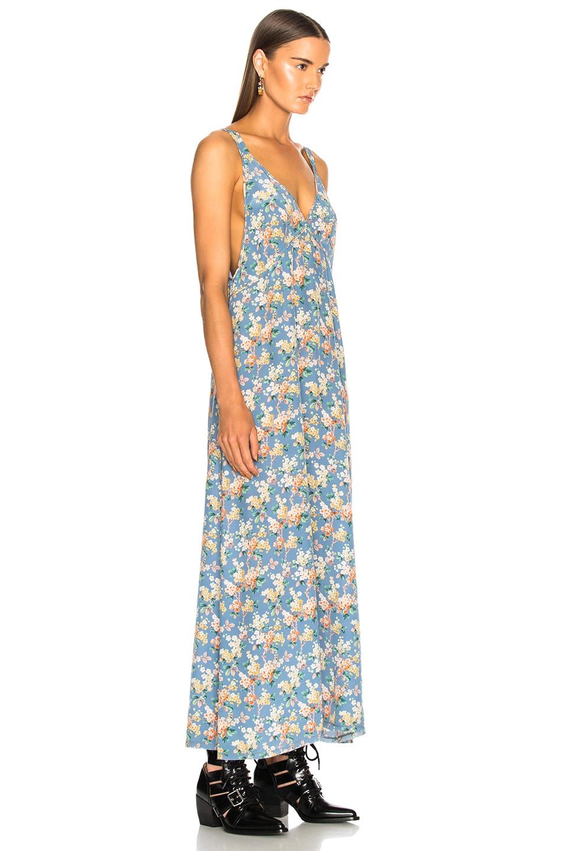 Image 2 of R13 Long Slip Dress in Blue Floral