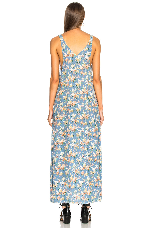 Image 3 of R13 Long Slip Dress in Blue Floral