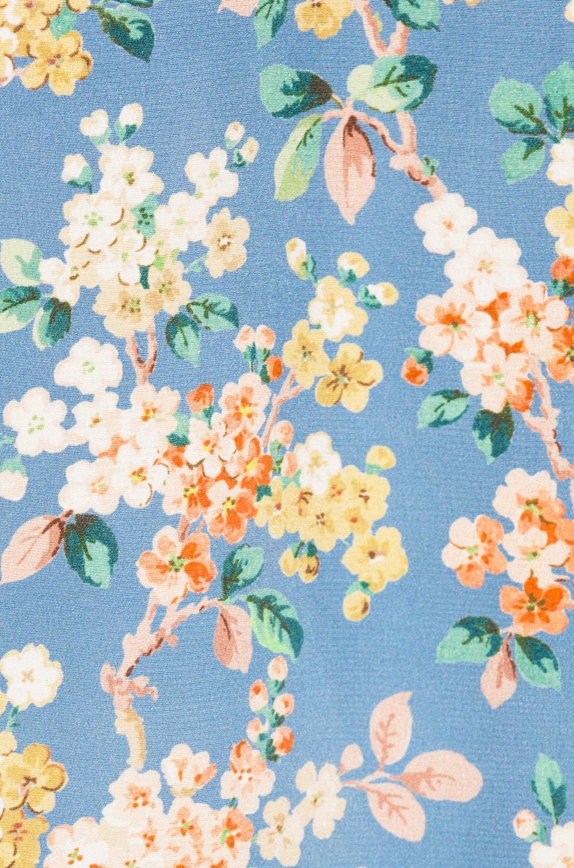 Image 4 of R13 Long Slip Dress in Blue Floral
