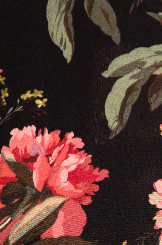 Image 4 of R13 Ruffle Slit Dress in Black Large Floral