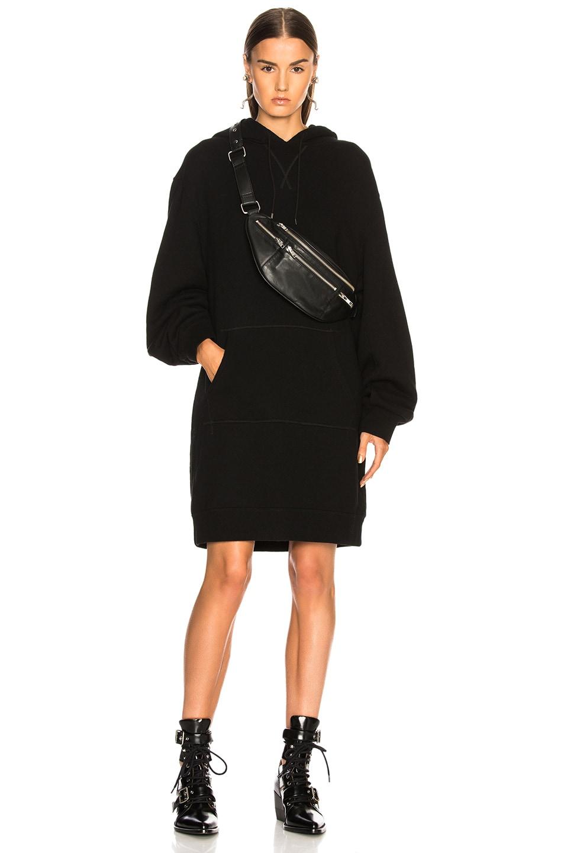 Image 1 of R13 Hoodie Dress in Black