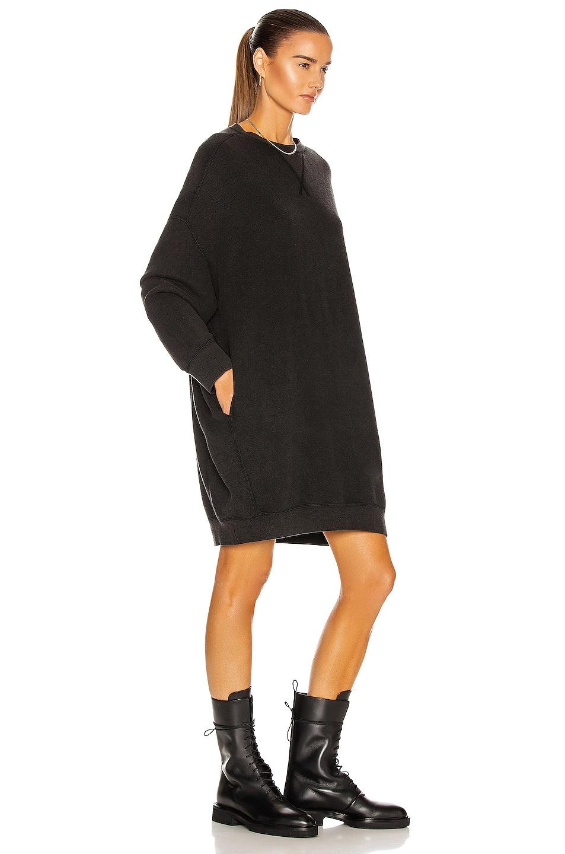 Image 2 of R13 Grunge Sweatshirt Dress in Sand Washed Black